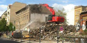 Abriss der Basalthäuser